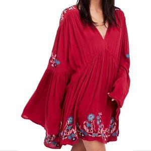 Free People Te Amo Flared Sleeve Mini Dress Size S